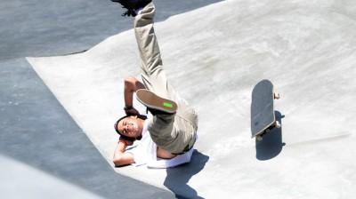 Skateboarding falls